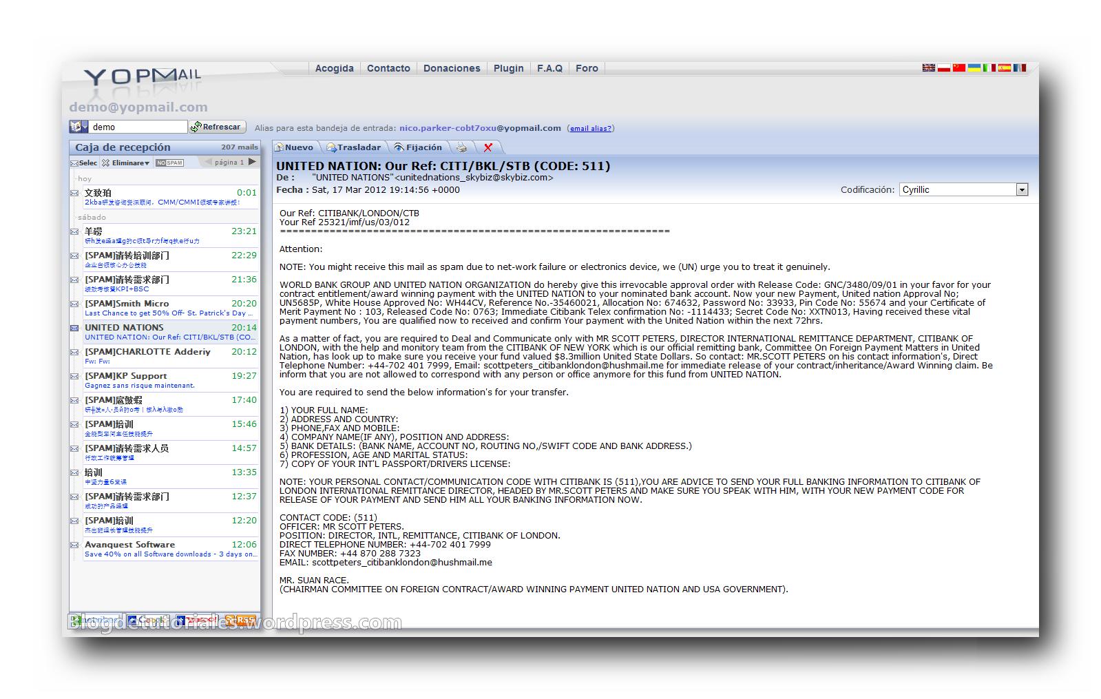 Yopmail, servicio anti spam | Blog de Tutoriales