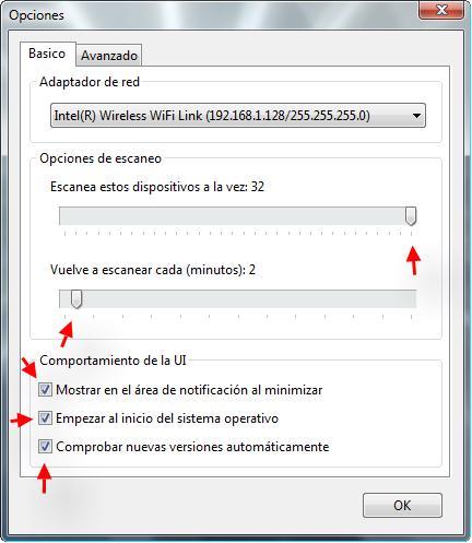 Wifi Guard - Opciones