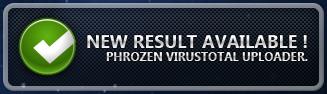 Confirmación  Phrozen VirusTotal Uploader