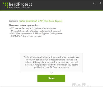 Inicio escaner HerdProtect
