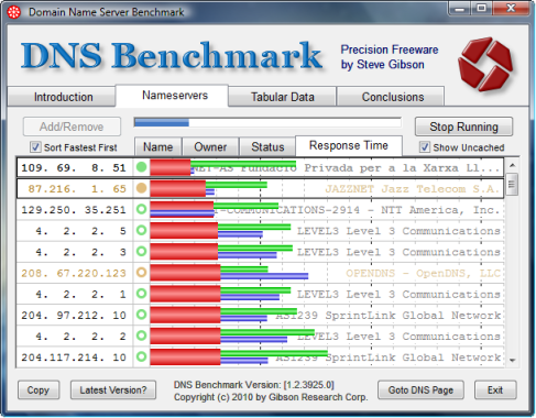 Domain Name Server Benchmark